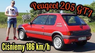 1988 Peugeot 205 GTI - 1.9, lecz nie TDI. Nie GOLF, a jednak GTI.