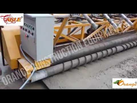 Orange Vibratory Paver Roller