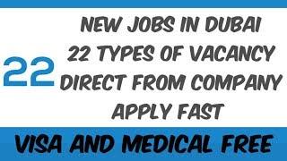 Fresher Dubai Jobs 2019 New 22+ Vacancies In Dubai Apply Fast Online | UAE JOBS | Latest Dubai Jobs