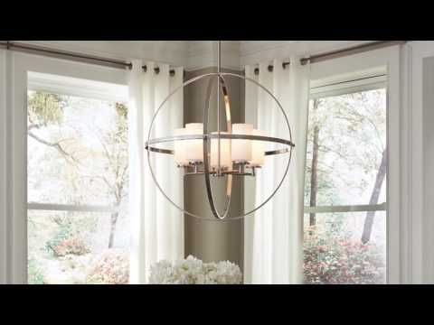 Video for Alturas Brushed Nickel Nine-Light Pendant