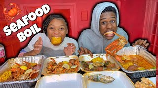 EXTRA SPICY SEAFOOD BOIL!!! OUR FIRST ONE!!!