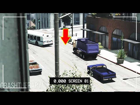 BeamNG.DRIVE - Accidents caught on a CCTV camera #2