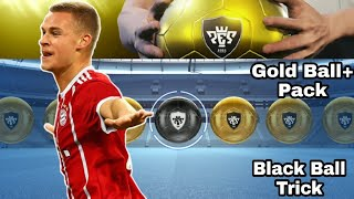 GOLD BALL PACK BLACK BALL TRICK IN PES 2019 MOBILE