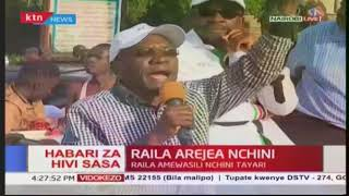 Former senator Boni Khalwale addresses jubilant crowd rallying behind opposition leader Raila