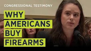 """THAT is why law-abiding citizens buy millions of these firearms."" Amy Swearer To House Judiciary"