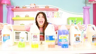 MAKING ALL TYPES OF GLUE IN SLIME ~ which one is best for slime ~ Slimeatory #404