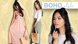 Modern Bohemian Style Hair, Makeup, + Outfits!