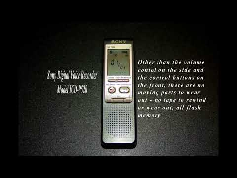 Sony ICD P520 Digital Voice Recorder Mp3