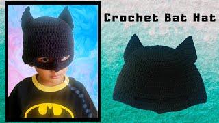 How to crochet Batman Hat | Batman Mask #crochetBatmanHat #crochetBatmanMask