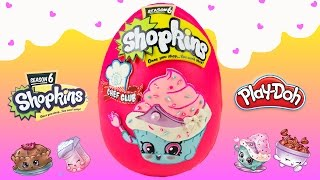 Shopkins Season 6 Playdoh Surprise Egg Shopkins Chef Club