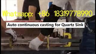Quartz Sink auto casting production system
