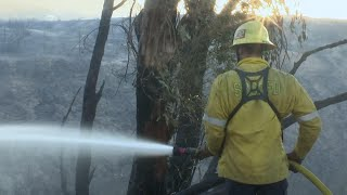 Progress reported in fighting California fires