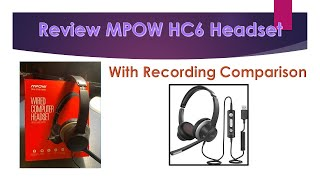 MPOW HC6 USB Headset with Microphone quality comparison - Review from Life Unlimited