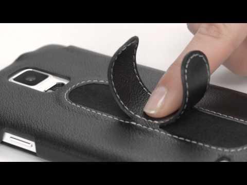 Handyhülle für Samsung Galaxy Note 4 aus echtem Leder mit Standfunktion von StilGut