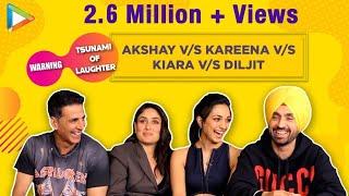 CAN'T STOP LAUGHING - Team Good Newwz's EPIC Rapid Fire | Akshay | Kareena | Kiara | Diljit