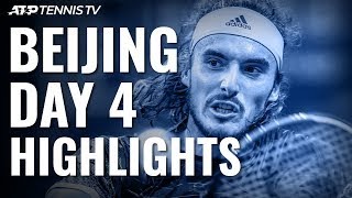 Zverev Beats Auger-Aliassime; Tsitsipas & Isner Reach Quarter-Finals | Beijing 2019 Highlights Day 4