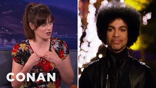 "When Prince Nixed The Kardashians, ""New Girl"" Execs Built A Bonfire  - CONAN on TBS"