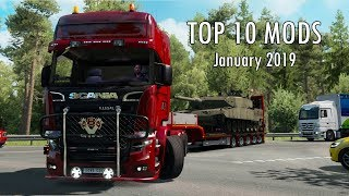TOP 10 MODS (January 2019) - 1.33.x - Euro Truck Simulator 2