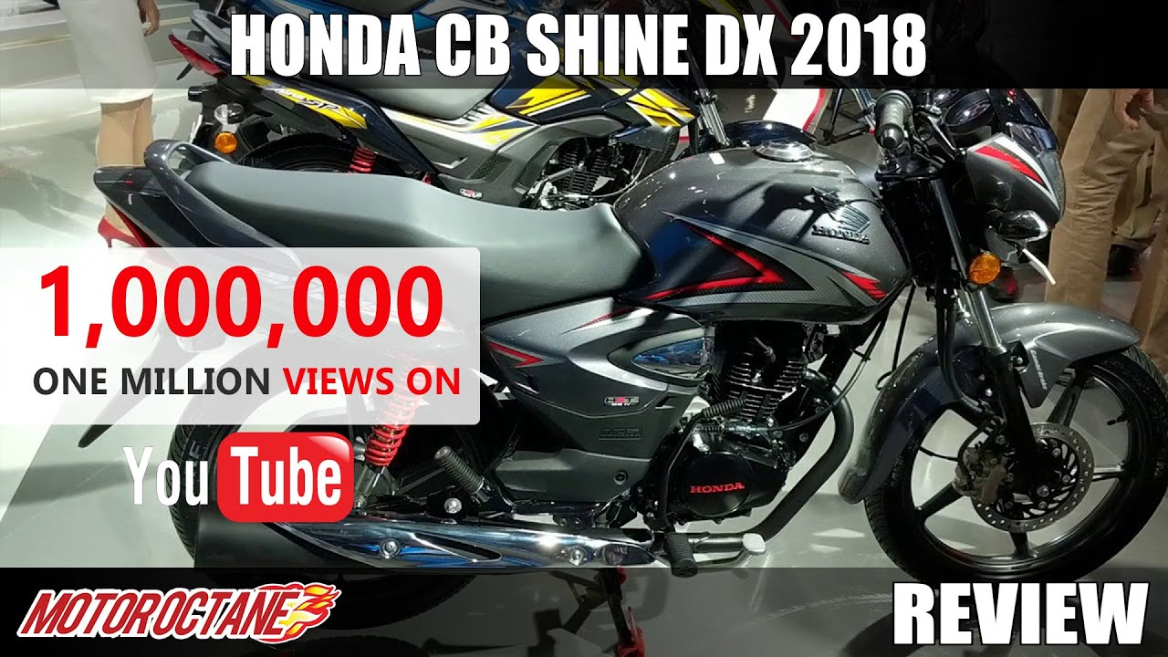 Motoroctane Youtube Video - Honda CB Shine dx 2018 Review in Hindi | MotorOctane