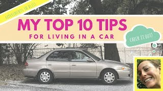 My Top Ten Tips for Living in a Car