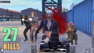 YOU WON'T BELIEVE THIS LANDING!!! | 27 KILLS | SOLO SQUAD | PUBG MOBILE