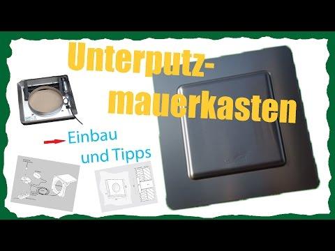 Mauerkasten // Firma Weibel // Unterputz// Video Film // Einbau // Montage