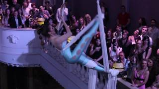 Beautiful aerial silks act over water Mermaid's Call by Nataly Borovyk