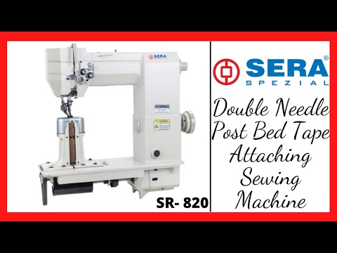Double Needle Piping Attaching Sewing Machine