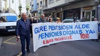 Pentsio duinen aldeko manifestazioa (2020-02-24)