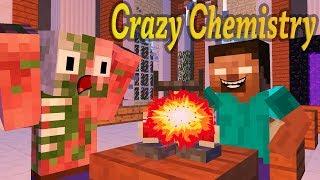 Monster School: Сrazy Сhemistry  - Minecraft animation