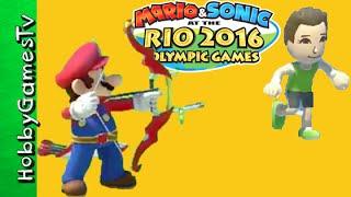 2016 Rio Olympic Games Mario Archery Swimming Race HobbyGamesTV