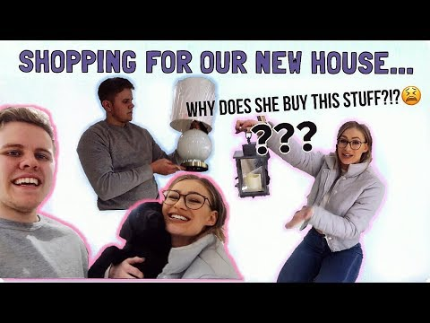 SHOPPING FOR OUR NEW HOUSE!! | Couple's Vlog