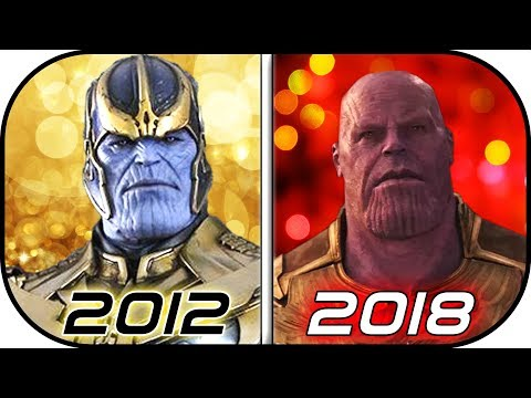 EVOLUTION of THANOS in Movies (2012-2018) History of Thanos Avengers Infinity War