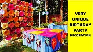 BIRTHDAY DECORATION   EASY BIRTHDAY DECORATION IDEAS AT HOME   PARTY DECORATION