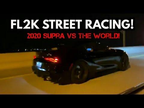 FL2K19 STREET RACING! 2020 TOYOTA SUPRA VS COYOTE MUSTANGS, BOOSTED CORVETTE, BMW Z4, & TONS MORE!