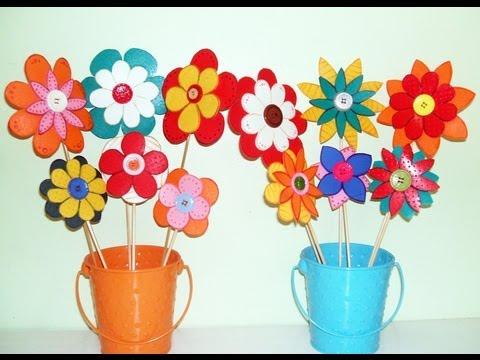 Resultado de imagen de manualidades flores goma eva