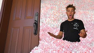 Filled our House With Styrofoam Peanuts completely!
