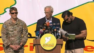 US coalition envoy congratulates the SDF forces for the defeat of IS