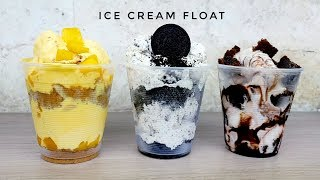 Ice Cream Float | Mango Graham ice cream | Oreo Ice cream | Chocolate Fudgee Barr (easy recipe)