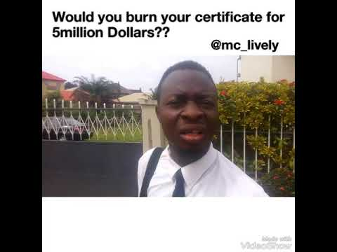 Lawyer Burns his Certificate (Mc Lively)