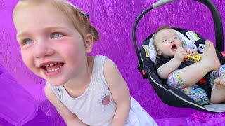 Kids React to Mom's New PURPLE CAR makeover!! my first Pizza Parade with The Spacestation!