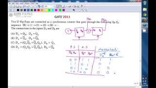 GATE 2011 ECE Design of Sequential circuit for given sequence