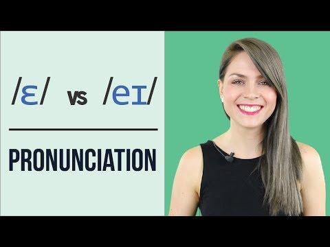 /ɛ/ and /eɪ/ | Learn English Pronunciation | Minimal Pairs Practice