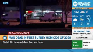 Man dead in Surrey's first homicide of 2020