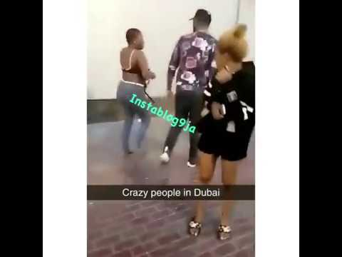 Nigerian lady fights naked in Dubai