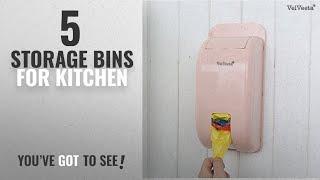 Top 10 Storage Bins For Kitchen [2018]: Velveeta New Wall Mount Container Holder Garbage Bag
