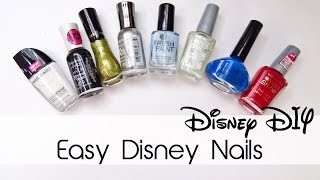 Easy Disney Nails | Nail Art | 30 Days Of Disney #20 | Creation In Between