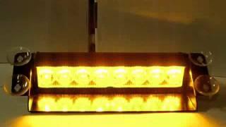 preview picture of video 'Stroboscope pour parebrise à ventouses, jaune. Référence: HS-51057E www.bc-elec.com'