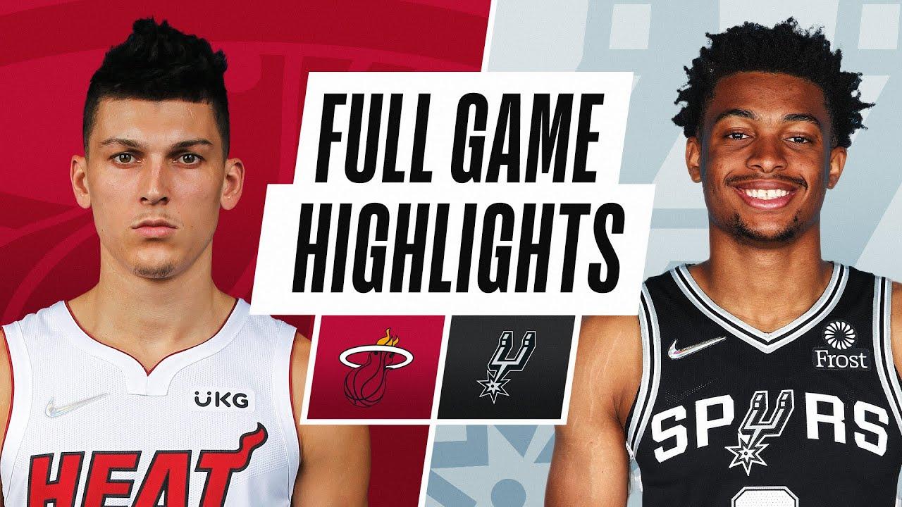 HEAT at SPURS | NBA PRESEASON FULL GAME HIGHLIGHTS | October 8, 2021