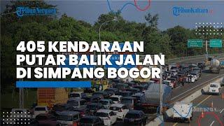 405 Kendaraan Dipasang Stiker Merah dan Diminta Diputar Balik di Simpang Gadog Bogor